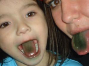 Sno-cone tongues...